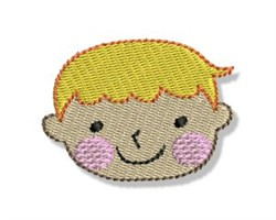 Happy Faced Blonde Boy embroidery design