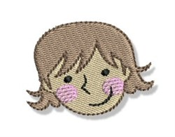 Happy Faced Woman embroidery design
