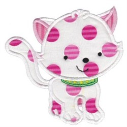 Applique Kitten embroidery design