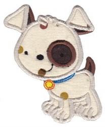 Applique Puppy embroidery design