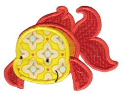 Applique Goldfish embroidery design