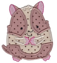 Applique Hamster embroidery design