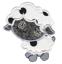 Applique Lamb embroidery design