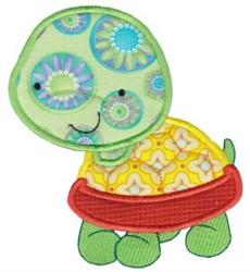 Applique Turtle embroidery design