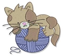 Cuddly Kitten & Yarn embroidery design