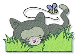 Cuddly Kitten & Bumblebee embroidery design