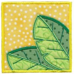 Leafy Applique Block embroidery design