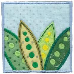 Applique Leaf Block embroidery design