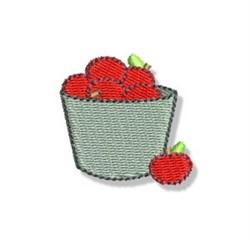 Autumn Mini Apple Basket embroidery design