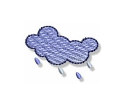 Autumn Mini Rain Cloud embroidery design