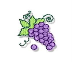 Autumn Mini Grape Cluster embroidery design