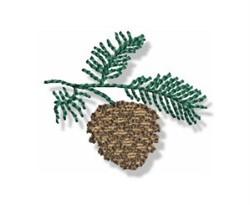 Autumn Mini Pine Cone embroidery design