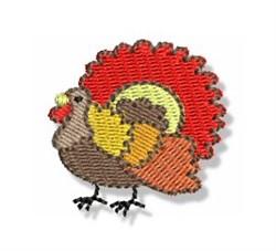 Autumn Mini Turkey embroidery design