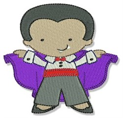 Cute Halloween Dracula embroidery design