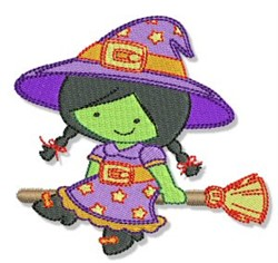 Cute Halloween Witch embroidery design