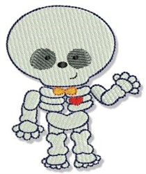 Cute Halloween Skeleton embroidery design