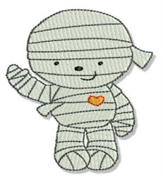 Cute Halloween Mummy embroidery design