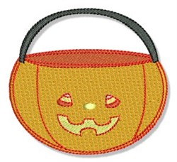 Cute Halloween Candy Buckey embroidery design