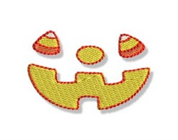 Halloween Candy Corn Face embroidery design