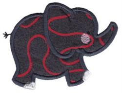 Noahs Ark Elephant Applique embroidery design