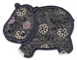 Noahs Ark Hippo Applique embroidery design