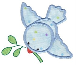 Noahs Ark Dove Applique embroidery design