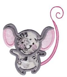 Noahs Ark Mouse Applique embroidery design
