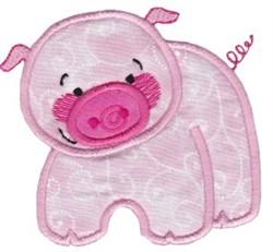 Noahs Ark Pig Applique embroidery design