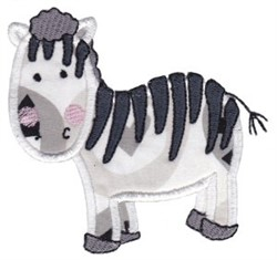 Noahs Ark Zebra Applique embroidery design