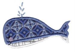 Noahs Ark Whale Applique embroidery design