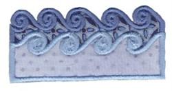 Noahs Ark Wave Applique embroidery design