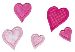 Noahs Ark Hearts Applique embroidery design