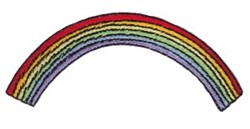 Noahs Ark Rainbow Applique embroidery design