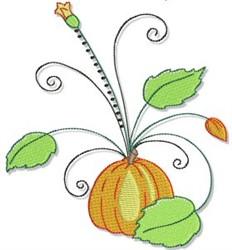 Autumn Pumpkin & Swirls embroidery design