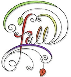 Swirly Fall Design embroidery design
