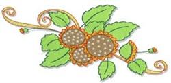 Decorative Fall Border embroidery design