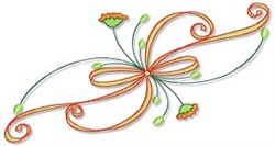 Swirling Autumn Border embroidery design