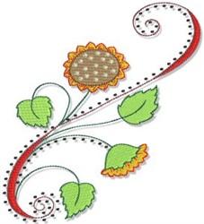 Sunflower Fall Border embroidery design