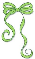Pretty Fall Bow embroidery design