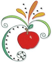 Fall Apple & Swirls embroidery design