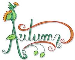 Swirly Autumn embroidery design