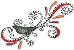 Swirly Crow Fall Border embroidery design