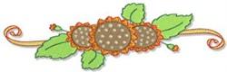 Fall Sunflower Border embroidery design