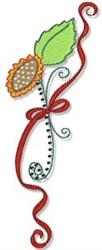 Swirly Sunflower Border embroidery design