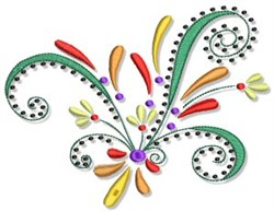 Swirly Fall Border embroidery design