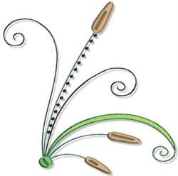 Cattails & Swirls embroidery design