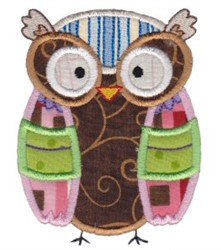 Cute Owl Applique embroidery design