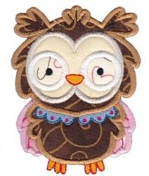 Adorable Owl Applique embroidery design