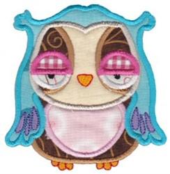 Sleepy Owl Applique embroidery design