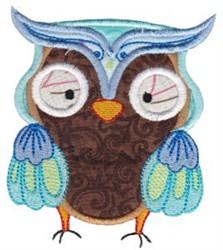 Blue Owl Applique embroidery design